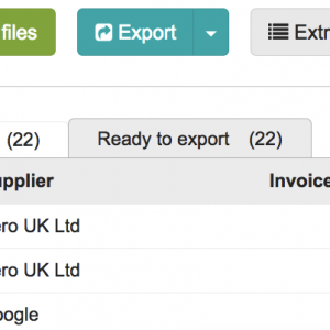 From a Folder, make sure to check the boxes next to the invoices you want to extract line items from.